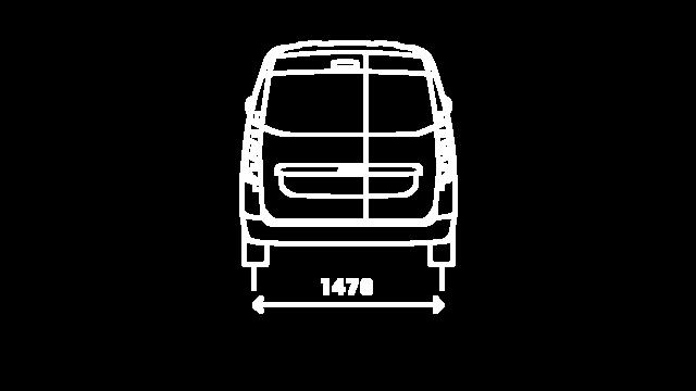 DOKKER Van – размери отзад