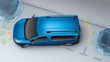 Ayuda al aparcamiento delantera y trasera Dacia Dokker
