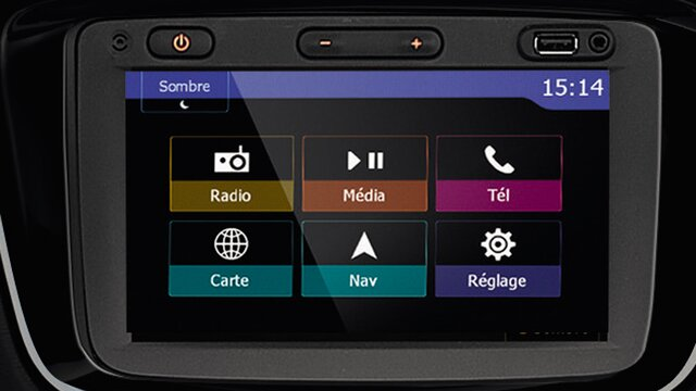 Dokker-interieur - Media Nav Evolution