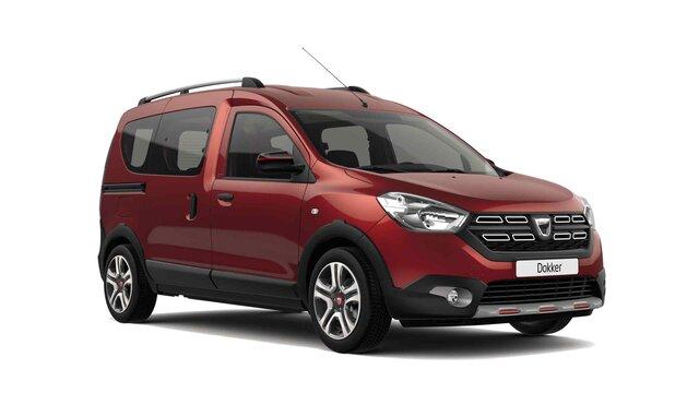 Dacia Dokker Stepway serie limitata Techroad Rouge Fusion - Vista 3/4 anteriore dell'auto