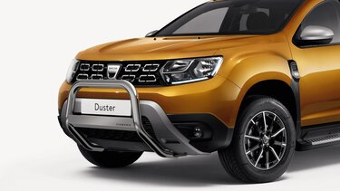 Dacia Duster chrome bull bars