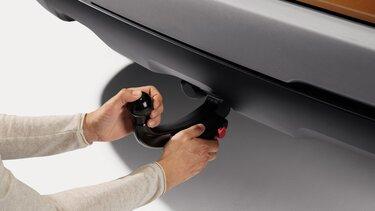 Dacia Duster - ťažné zariadenie odnímateľné bez pomoci náradia