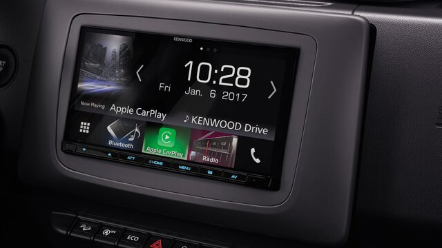 Dacia Duster Kenwood-Autoradio mit Apple Carplay