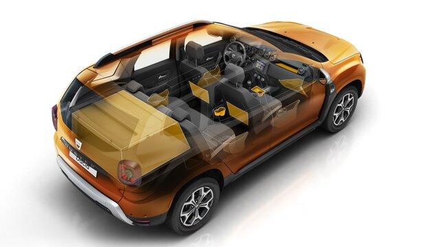 De Dacia Duster is voorzien van lekker veel opbergruimte.