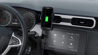 Yeni Duster için endüksiyonlu telefon şarjı