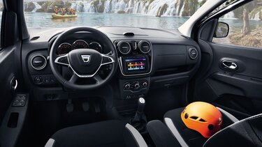Lodgy Stepway interior - Habitáculo
