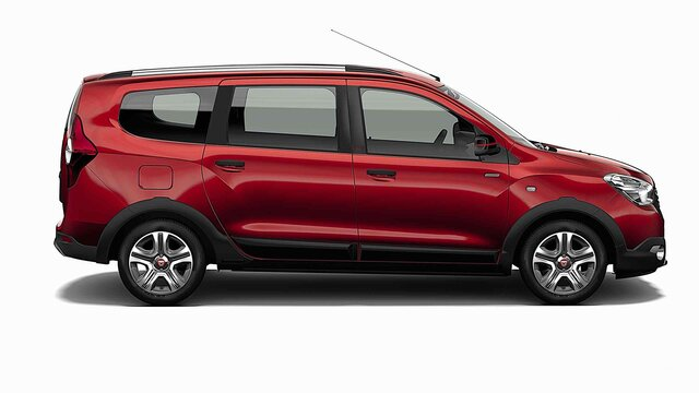 Dacia Lodgy Stepway ograničeno izdanje Techroad Red Fusion – bočni pogled na automobil