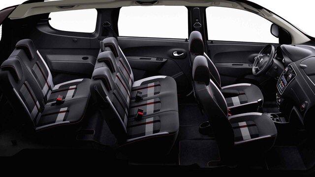 Dacia Lodgy Stepway ograničeno izdanje Techroad Red Fusion – pogled na unutrašnjost vozila