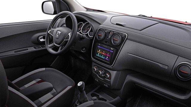 Dacia Lodgy Stepway Sonderserie Ultimate Rouge Fusion – Innen- und Armaturenbrettansicht