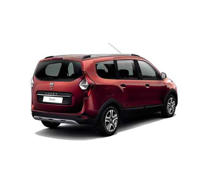 Dacia Lodgy Sonderserie Ultimate Rouge Fusion – 3/4-Heckansicht