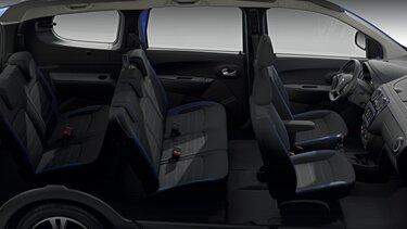 Dacia Lodgy limitált széria, belső dizájn – 7 kényelmes ülőhely