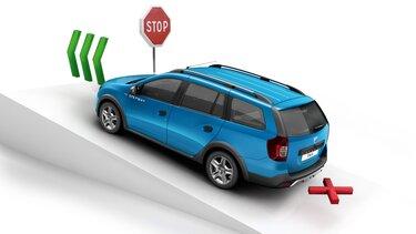 Logan MCV Stepway - asistenční systémy řidiče