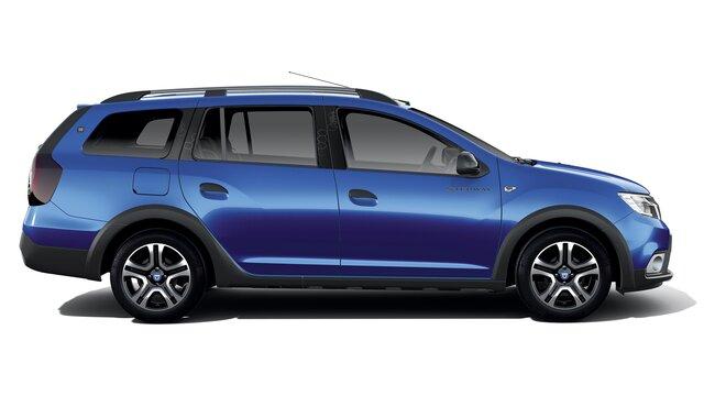 Vue latérale de Dacia Logan MCV Stepway Celebration