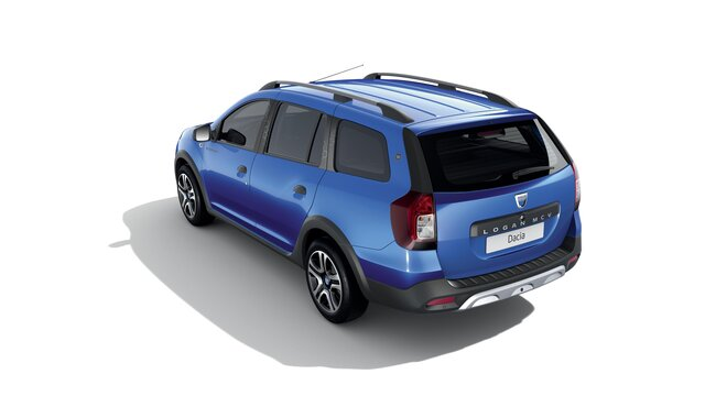 Vue 3/4 arrière de Dacia Logan MCV Stepway Celebration