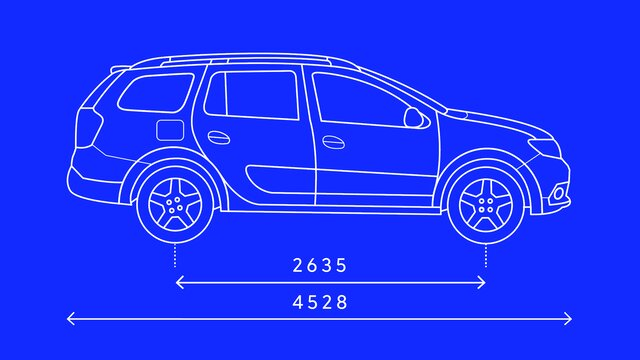 Logan MCV Stepway - Side dimensions