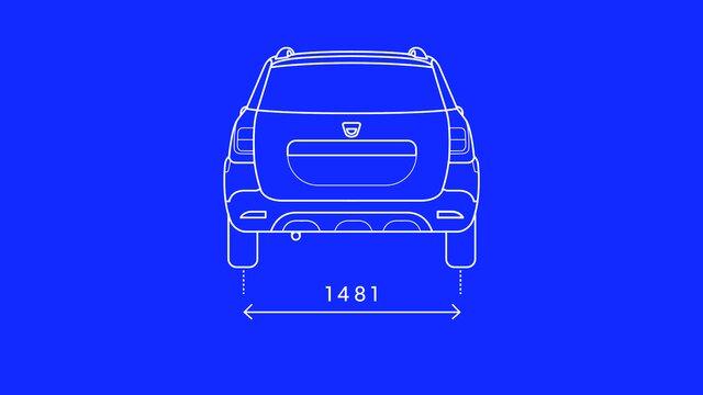 Logan MCV Stepway - boční rozměry