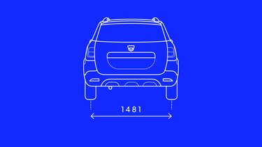 Logan MCV Stepway - Rear dimensions