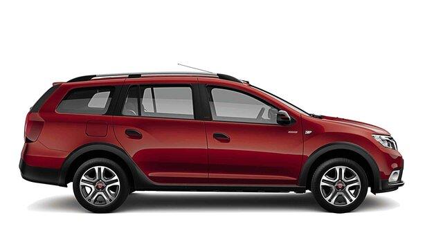 Dacia Logan MCV Techroad - Az autó oldalnézete - Izzó vörös szín