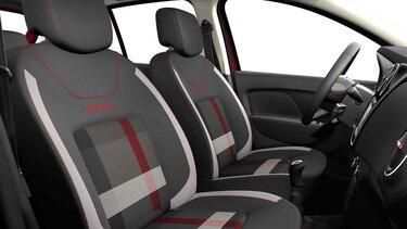 Dacia Logan MCV Stepway Techroad – pogled na unutrašnjost automobila i prednja sedišta