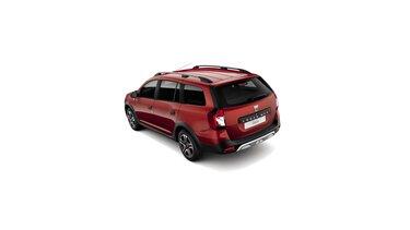 Dacia Logan MCV Stepway Techroad – pogled na zadnje 3/4 automobila – boja Red Fusion