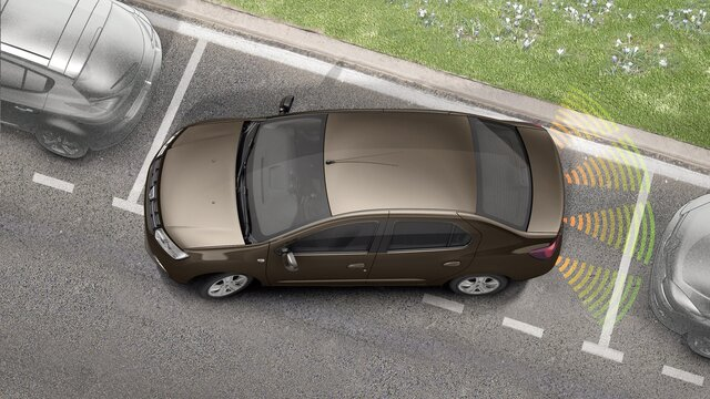 Sistema de ajuda ao estacionamento Dacia Logan