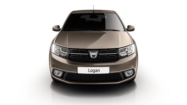 Pohľad na prednú časť vozidla Logan