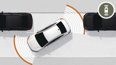 Senzori de parcare față/spate și cameră video spate Noul Logan
