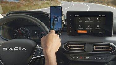 Zrkadlenie smartfónu v Novom modeliDacia RJI ‒ Android Auto™ a Apple CarPlay™