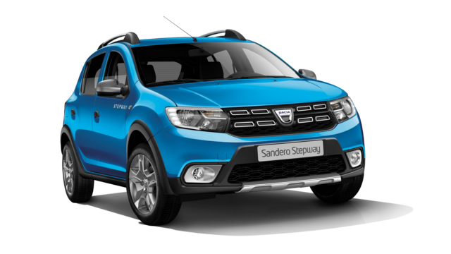 Sandero Stepway - modrý sedan