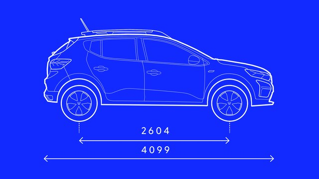 Sandero Stepway - Profile dimensions