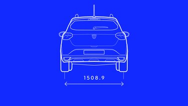 Sandero Stepway - Rear dimensions