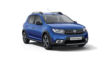 Vue 3/4 avant de Dacia Sandero Stepway Celebration