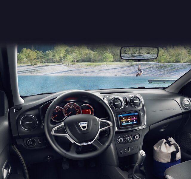 Dacia Sandero Stepway - Interior do painel de bordo
