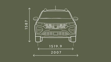 Sandero Stepway front-end dimensions