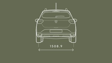 Sandero Stepway dimensions arrière
