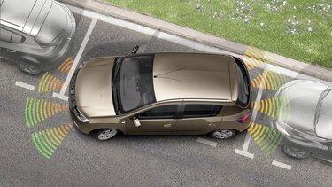 Sandero - Sistemas de ajuda ao estacionamento dianteiro e traseiro