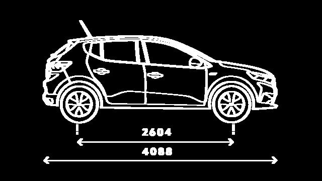 Sandero - Dimensions de profil