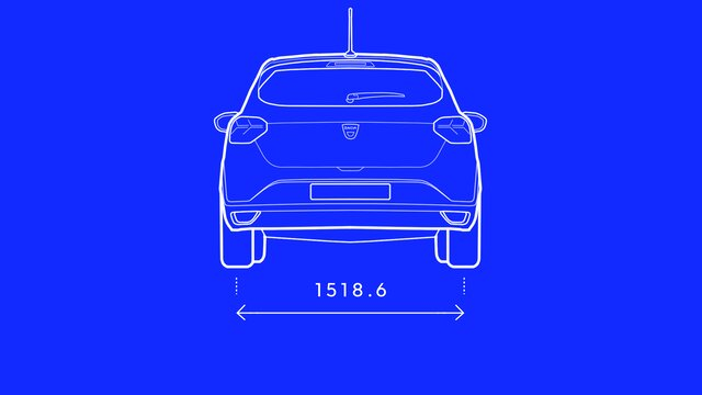 Dacia Sandero – Abmessungen hinten