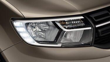 Sandero - Přední světlomety s LED denním svícením