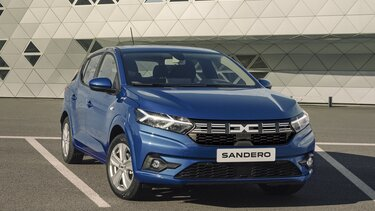 Sandero city car front end