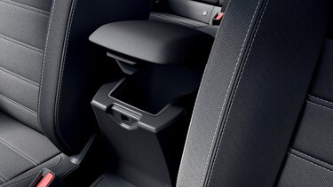 Sandero central console storage compartments