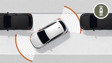 Контрол на разстоянието при паркиране и камера за задно виждане на Sandero