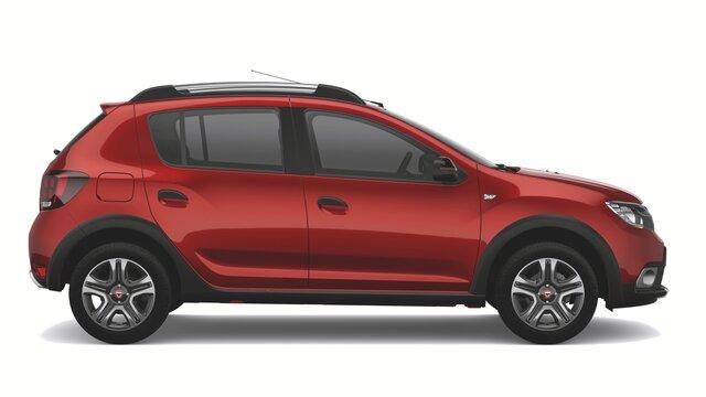 Dacia Sandero Stepway limited edition Techroad Red Fusion - Zijaanzicht van de auto