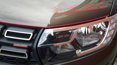 Koplamp getunede Dacia Sandero