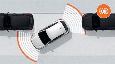 System wspomagania parkowania oraz kamera cofania Sandero