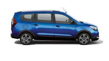Dacia Lodgy Stepway seria limitowana Techroad Czerwony Fusion - Widok samochodu z profilu