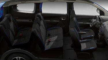 Dacia Lodgy Stepway seria limitowana Techroad Czerwony Fusion - Widok wnętrza samochodu