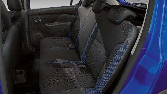 Dacia Sandero Stepway seria limitowana Techroad - Widok wnętrza i tylnych siedzeń