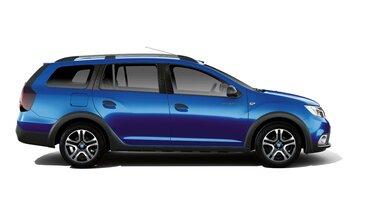 Dacia Logan MCV Stepway Techroad - Widok samochodu z profilu - Kolor Czerwony Fusion