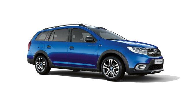 Dacia Logan MCV Stepway Techroad - Widok 3/4 z przodu samochodu - Kolor Czerwony Fusion